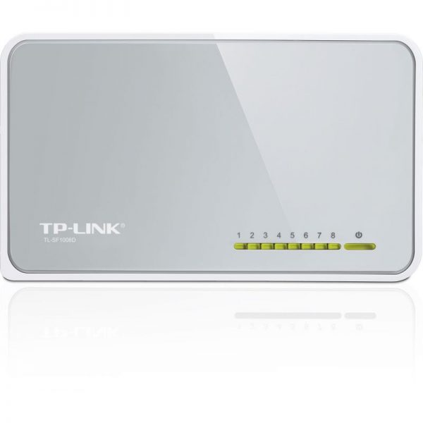 tp link tl sf1008d desktop switch with 8 ports at 10100 mbps