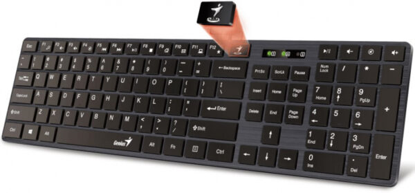 klaviatura genius slimstar 126 usb black 31310017402  1450735 2